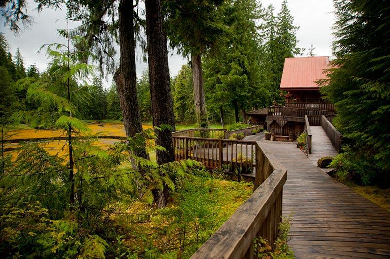 Main fishing lodge for Alaska fishing lodge