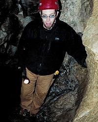 Lodge guests explore El Capitan Cave in Alaska