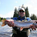 Dolly Varden caught on Luck Lake