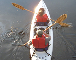 Guests enjoy exploring Thorne Bay Alaska in canoes and kayaks