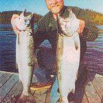 Catch Alaska silver salmon