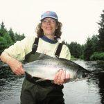 Woman lands silver salmon