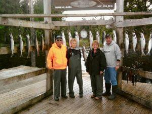 Alaska salmon fishing at Boardwalk Lodge