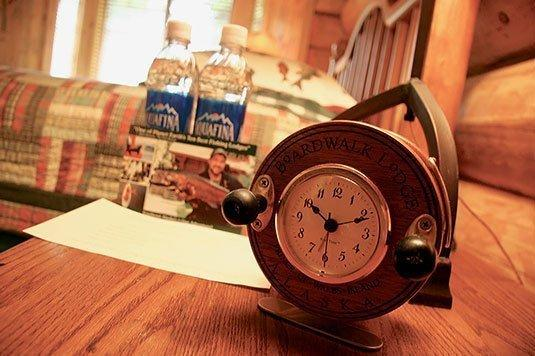 Bedside table alarm clock