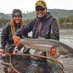 Fishing guide Jay Mar lands his first Alaska Steelhead of the season