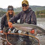 Fishing guide Jay Mar lands his first Alaska Steelhead of the season