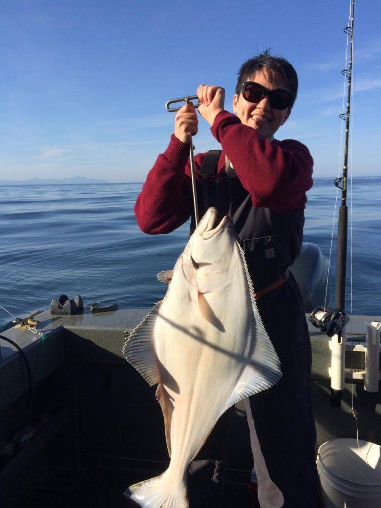 Chris Brewer fishing for Alaskan halibut