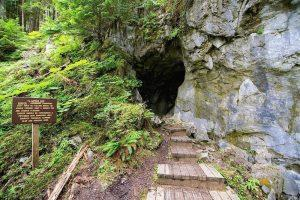 Entrance to El Capitan Cave on Prince of Wales Island, Alaska