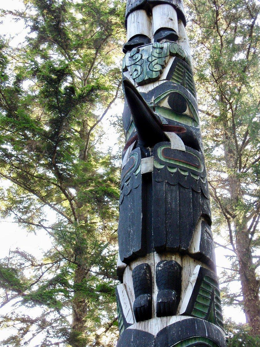 Totem at Village of Kasaan