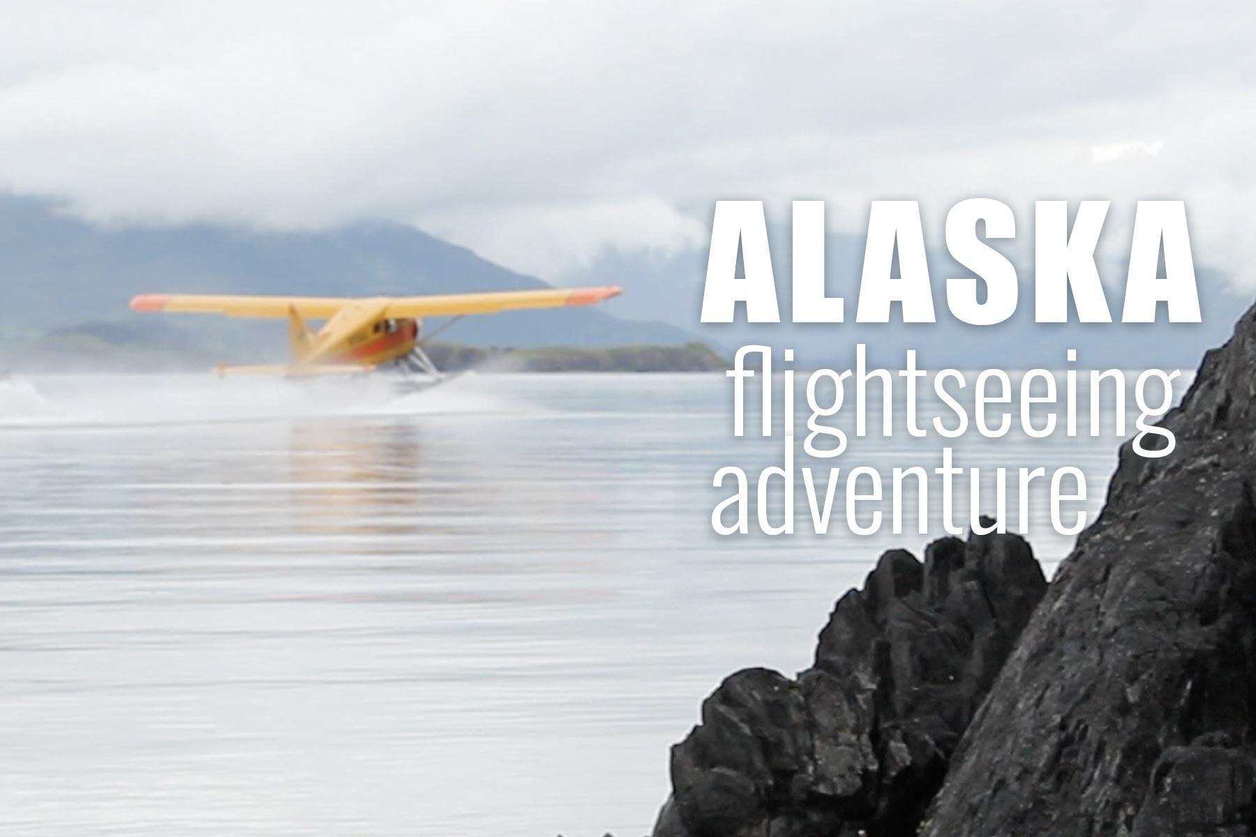 Pilot-narrated aerial flights through untouched Alaska wilderness