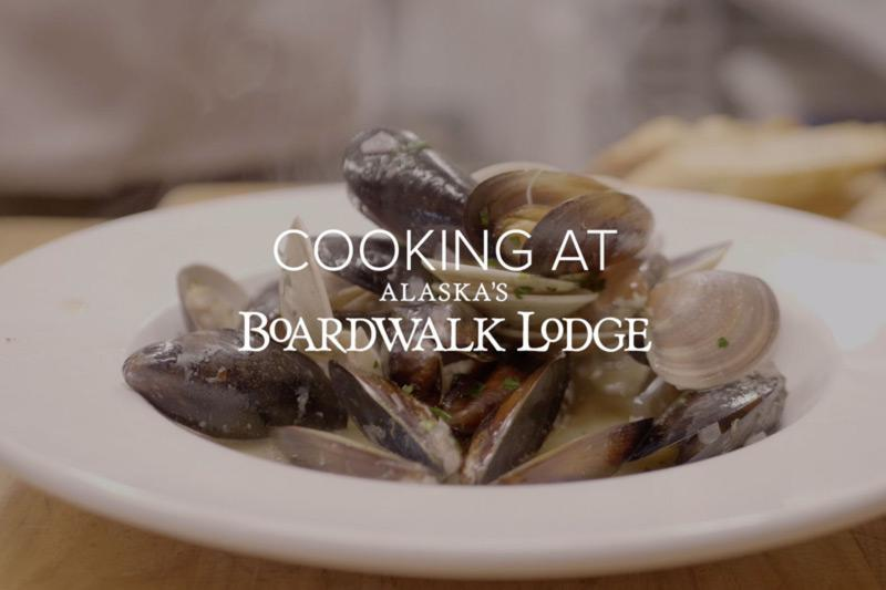 Cooking at Alaska's Boardwalk Lodge